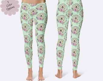 Doodle Leggings, Goldendoodle Leggings, Dog Leggings, Labradoodle Leggings, Print Leggings, Doodle Clothing, Capri Leggings