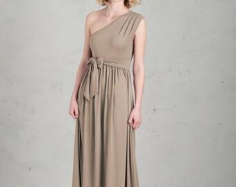 Long Bridesmaid Dress - Linnea, Sand / Beige