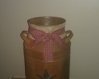Rusty Milk Can Rustic Farmhouse Decor Country Decor Primitive Decor