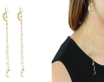 Dancing in the Moonlight in 18k Gold Plated Dangle Earrings