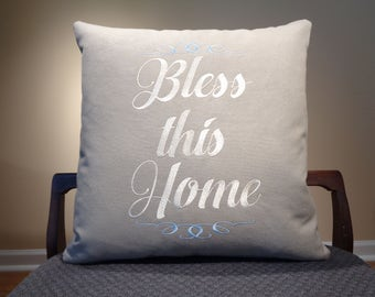 Bless This Home Pillows, Fixer Upper Decor, Magnolia Market Decor, Joanna Gaines Decor, Farmhouse Accent Pillows, Modern Farmhouse Decor