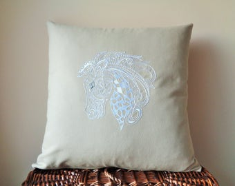 Horse Lover Gifts, Horse Lover Decor, Wild Horse Pillows, Animal Pillow Covers, Nature Lover Decor, Nature Lover Gifts, 18x18, 16x16