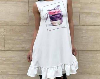 Doll Dress/Sweet Party Dress/Print Dress made by Rocklessa