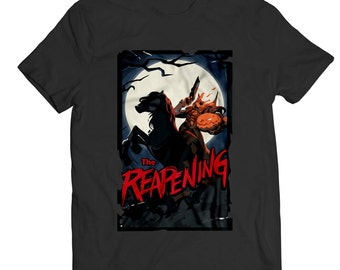 Overwatch Reaper Halloween The Reapening Spray Unisex T-Shirt White/Black Cotton