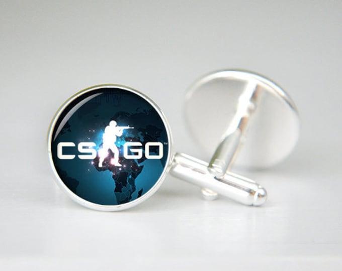 CS GO Cufflinks, Csgo Cuff Links, Counter Strike, Cool Cufflinks, Gamer Gift, Overwatch, Wedding, Groomsmen Gift, Custom Cufflinks