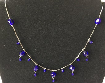 Cobalt Blue Choker Style Necklace