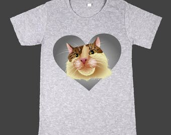 Print on T-Shirt Cat