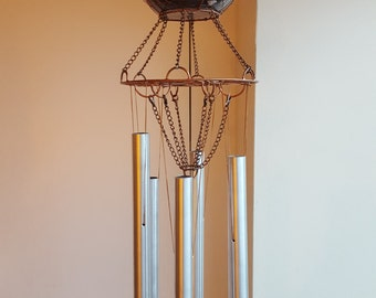 Wind chimes, handmade with copper, glass and aluminium with perfect tunes