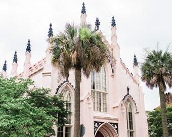 Pink Charleston Church Print