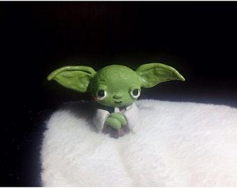 Master Yoda polymer clay miniature figurine for fairy garden