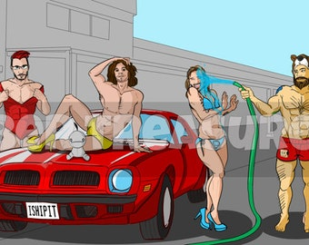 I Ship It! Tuber Car Wash (Game Grumps, Markiplier, Pewdiepie, JackSepticEye, CinnamonToastKen)