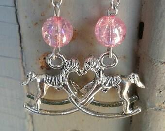 Pink or Blue Rock-A-Bye Earrings