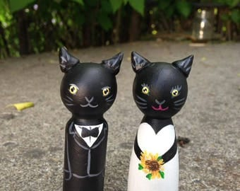 Wedding Cake Topper Cats