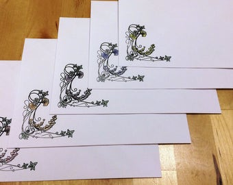 Art Nouveau Envelopes: Set of 5