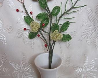 Flower bouquet bead