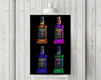 Jack Daniels, Whiskey Wall Art, Print or Canvas, Bar Room Decor, Tennessee Whiskey, Cool Man Cave Art, Bar Room Gift, Alcohol Lover Picture