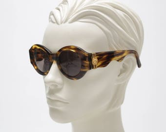 GIANNI VERSACE 90s sunglasses  amazing mod.S12 col.A04 medusa light brown tortoise - free shipment