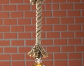 Free Shipping, Rope Pendant Light, Rustic Lighting, Rope Pendant, Ceiling Rope Lighting, Ceiling Rope Fixture, Pendant Light, Barn Light