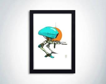 """Poster """"War Robot"""""""
