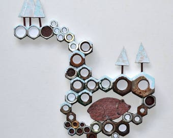 Hibernation, wall decoration, different, design, decoration-nuts