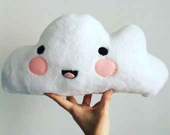 Plush Cloud Pillow- Handmade, sewn by hand in Hawaii, Size: Medium