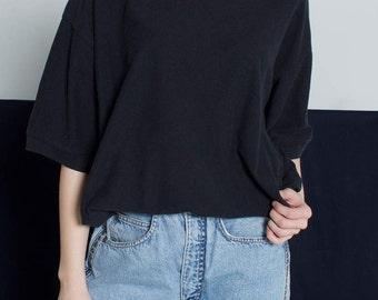 Pierre Cardin oversized black coton t-shirt SOLD
