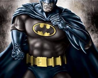 Batman Blue and Grey Batsuit Variant 11x17