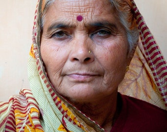 Portrait of a Matriarch from India