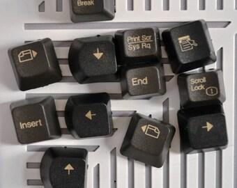 Decorative tacks for Bulletin Board made from computer keyboard keys