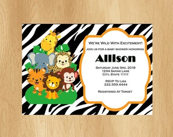 Safari Baby Shower Invitation - Customizable