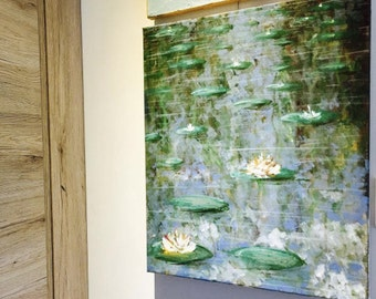 SOLD!!!!! - Water lilies reflection on water