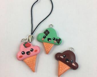 Ice-cream Polymer Clay Charm