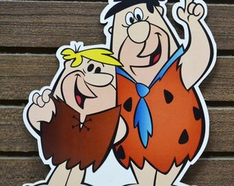 Odd Shaped Postcard - The Flintstones