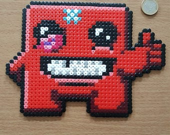 Super Meat Boy Pixel Bead Art