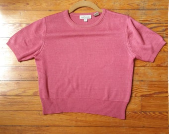 Silk Mauve Ann Taylor Crop Top Sweater