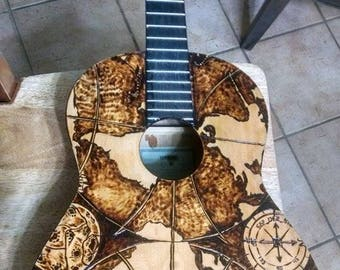 Scorched Acoustic Guitar