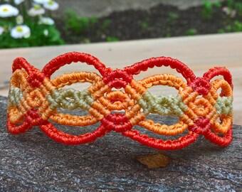 Macreme bracelet, rainbow colour, colourfull, Beach, Summer bracelet