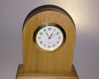 Handcrafted,Oak Wood,Mantel Clock