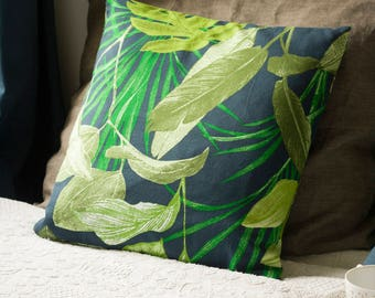 Cushion cover - Blue jungle