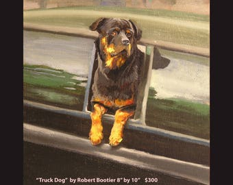 "Oil painting ""Truck Dog"""