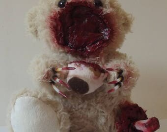 """OOAK Gore Horror Bear Teddy """"Foot and Mouth"""""""