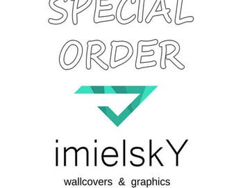 Removable Wallpaper //Peel & Stick // Repositionable // Special order