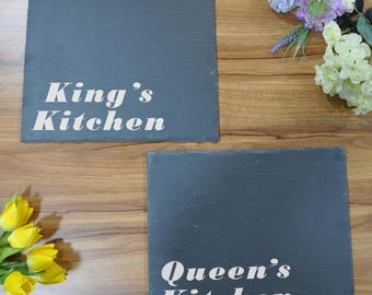 King's & Queen's Kitchen Slate Place Mats