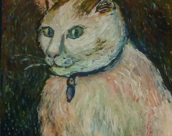 Portrait of your own pet in an impressionist or post-impressionist style. Just send me a pick