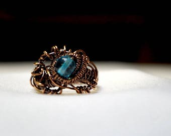 Copper with glass bead ring