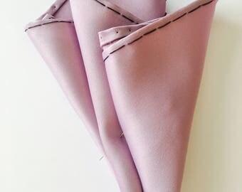 Light purple, silk pocket square