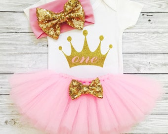First Birthday Outfits, First Birthday Girl, First Birthday Outfit Girl, Girls First Birthday Outfits, Girl Birthday Outfit, Pink and Gold