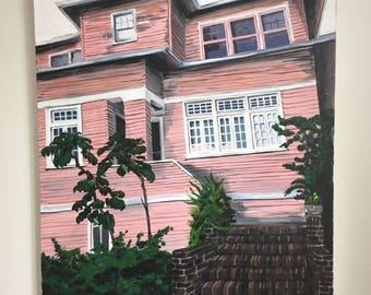 Pink Home Painting Acrylic