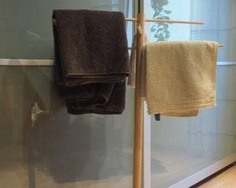 Towel rack wood