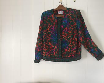 VINTAGE Amazing Patterned Jacket Size 14